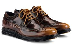 Cole Haan LunarGrand Long Wingtip – Camello/Black