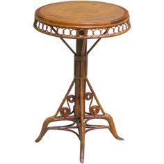 EARLY VICTORIAN WICKER SIDE TABLE