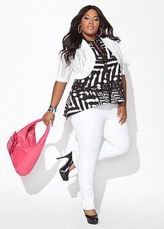 Ashley Stewart white jacket plus size #UNIQUE_WOMENS_FASHION http://stores.ebay.com/VibeUrbanClothing