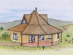 Sue and Collin recently sold off a portion of their farm and want to build a two-bedroom cottage. Round House Plans, Single Storey House Plans, Home Design Plans, Art Sketchbook, Gazebo, Outdoor Structures, House Design, How To Plan, House Styles
