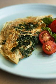 Egg white omelette with spinach