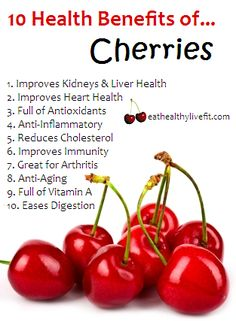 10 Health Benefits of Cherries #farmersmarket #healthy http://farmersmarketdelivered.com/