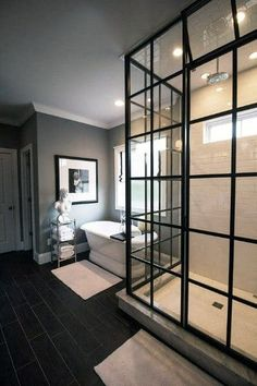 Top 70 Best Shower Window Ideas - Bathroom Natural Light Bathroom Layout, Small Bathroom, Master Bathroom, Bathroom Ideas, Master Baths, Bathroom Designs, Bathroom Inspiration, Bathroom Grey, Bathroom Windows