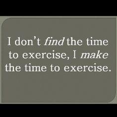 CLARO!! No busco tiempo para entrenar. Fabrico el tiempo para entrenar ...