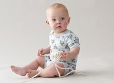 Badger on a bicyicle playsuit | Broken Tricycle @ Little Boo-teek