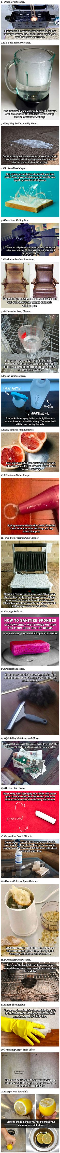 Here are some simple cleaning hacks you probably never knew about.