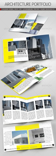 Construction Company Brochure    Modern minimal brochure template for real estate, architecture, construction companies or any business industry. Easy to edit. It comes with free trifold brochure