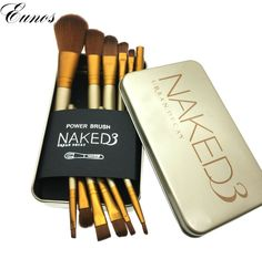 woman fashion 12 pcs makeup brushes set pinceaux Cosmetic tools kit Eyeshadow Lip Foundation Concealer Brush goat hair make up brushes * Detailed information can be found on AliExpress website by clicking on the image