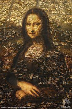 Mona Lisa City [Jessy Veilleux and Daniel Kvasznicza (Meduzarts)] (Gioconda / Mona Lisa)