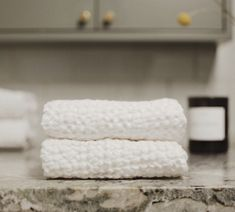 Our thick waffle linen towels - Shop our collection at Bylinen.