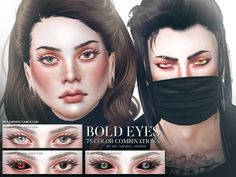 Sims 4 CC's - The Best: Bold Eyes Set by Pralinesims