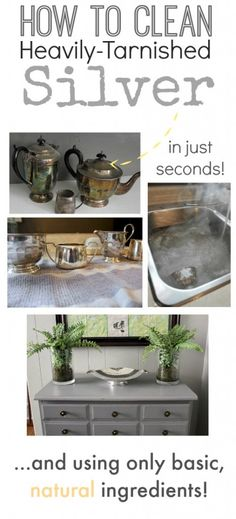Clean your really tarnished silver quickly and easily with this awesome trick! This is so good, I almost think it should be taught in the schools!