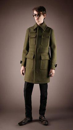Felt Patch Pocket Topcoat | Burberry $2895