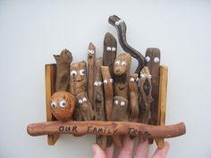 Our Family Tree.   This would be fun to do with found items on a woods walk!