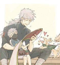 Kakashi's ninken when they were little are so cute