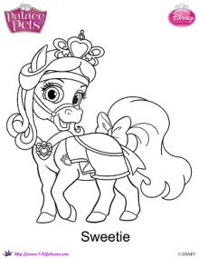 Sweetie coloring page | Disney's Princess Palace Pets Free Coloring Pages and Printables | SKGaleana