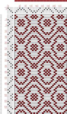 Hand Weaving Draft: Threading Draft from Divisional Profile, Tieup: , Draft #8776, Threading: Weber Kunst und Bild Buch, Marx Ziegler, (1677) # 23, Treadling: Weber Kunst und Bild Buch, Marx Ziegler, (1677) # 23, Draft #61115, Threading: Weber Kunst und Bild Buch, Marx Ziegler, (1677) # 14, Treadling: Weber Kunst u, 4S, 4T - Handweaving.net Hand Weaving and Draft Archive