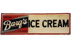 Barq's Ice Cream Sign on OneKingsLane.com