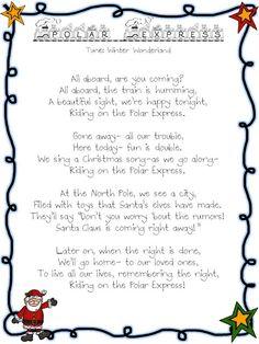 Polar Express song-tune Winter Wonderland