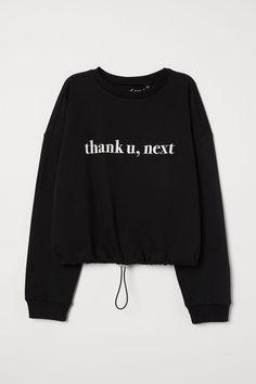 H&M Drawstring Sweatshirt - Black Concert Ariana Grande, Ariana Merch, Ariana Grande Outfits, Ariana Grande Clothing Line, Hm Outfits, Cute Casual Outfits, Fashion Outfits, Fashion Weeks, Spring Outfits