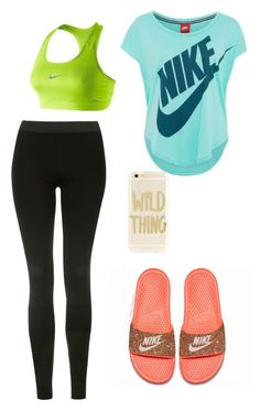 """""""Untitled #10"""" by atippman ❤ liked on Polyvore featuring Topshop, NIKE and Sonix"""
