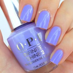 Erika nails this periwinkle-purple mani created using her gifted OPI Infinite Shine 2 Nail Lacquer in You're Such a Budapest. She keeps her digits captivating for #11DaysStrong using the new OPI Infinite Shine ProStay Primer and Gloss. Products were gifted as part of the Preen.Me VIP program together with OPI.
