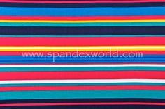 Printed Cotton Lycra® (Navy/Turquoise/Yellow/Multi)