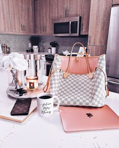Blondie in the City | Kitchen Decor | @HayleyLarue Instagram | Louis Vuitton Neverfull MM