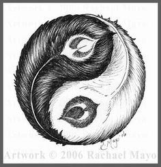 I want this tattoo. Peacock feathers making a ying yang.