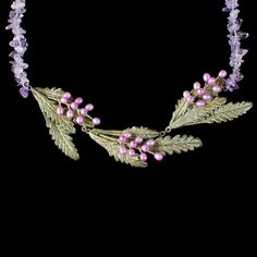 Michael Michaud Jewelry - French Lavender Necklace - Contour