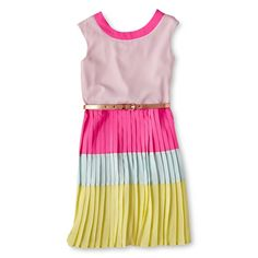 Baker by Ted Baker Colorblock Dress - JCPenney Ted Baker Belt, Ted Baker Kids, Dress Outfits, Kids Outfits, Cute Girl Dresses, Easter Outfit, Colorblock Dress, Fashion Kids, Pink Yellow