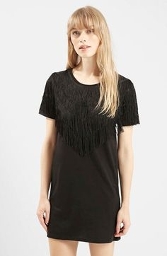 Topshop Fringe T-Shirt Tunic available at #Nordstrom