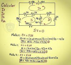 """⚡ElectroSol⚡ en Instagram: """"Análisis de circuitos; método de mallas 👍✌👋⚡ . . . . #electricidad #engenheiros #electricidadpty #electricidadchile #electricidad⚡…"""" Electrical Engineering Books, Electronic Engineering, Mechanical Engineering, Physics Concepts, Physics Formulas, Physics Notes, Physics And Mathematics, Electronics Basics, Kids Electronics"""