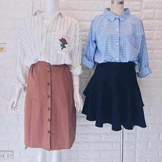 Couple Clothes, Couple Outfits, Waist Skirt, Dress Skirt, High Waisted Skirt, Korean Fashion, Women's Fashion, Korean Style, Couples