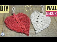 In this easy Macrame Hea… DIY Macrame Heart Wall hanging – Wall Decoration Ideas .In this easy Macrame Heart tutorial I'll show you How to Make Macrame wall hanging decoration with Ea… Next Post Previous Post DIY Macrame Heart Wall hanging – Wall Macrame Wall Hanging Diy, Wall Hanging Crafts, Hanging Decorations, Embroidery Hearts, Embroidery Patterns, Hand Embroidery, Macrame Patterns, Crochet Patterns, Christmas Wall Hangings