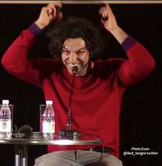 "Via Aidan Turner Forever Facebook page: An enormous thx you to Elizabeth @Red_Sangre for this ""caught in the moment"" still of #AidanTurner from the @odessaiff Q&A video."