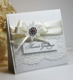 Inspired and Unscripted: Elegant Christmas Card/ WEDDING CARD