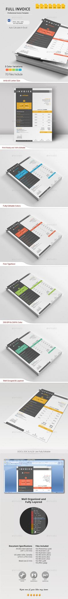 10 Creative Invoice Template Designs Business, Invoice example - indesign invoice template