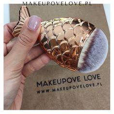 Złota rybka - pędzelek do makijażu #makeupovelove #makeupbrushes #mermaid #pędzelki