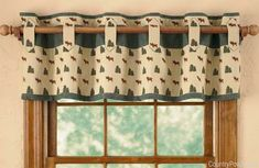 cute country kitchen curtain idea, but I would definitely change the colors.