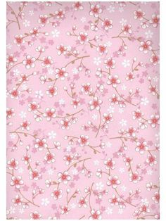 Cherry blossom-tapetti Vaaleansininen ja -punainen / TAPETIT - Tilaustapetit Pip Studio / Colore