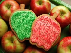 Apple Butter Cookies, cut with Ann Clark Apple cookie cutters Cut Out Cookie Recipe, Butter Cookies Recipe, Cut Out Cookies, Best Cookie Recipes, Bar Recipes, Holiday Recipes, Apple Cookies, Fall Cookies, Candy Cookies