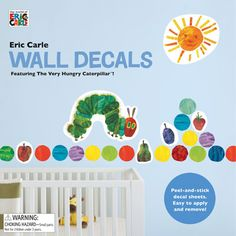 Bring The Very Hungry Caterpillar to life in your child's bedroom with this room decal kit, which comes with 49 wall decals just like Eric Carle's classic illustrations. #GoodHousekeeping #GiftIdeas