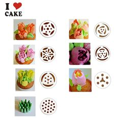 7pcs/lot Russian Tulip plastic Icing Piping Nozzles Pastry Decorating Tips Cake Cupcake Decorator