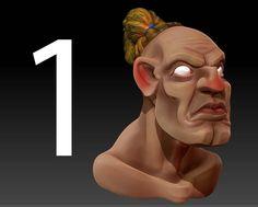 zbrush tutorial creating a 3d cartoon character No1