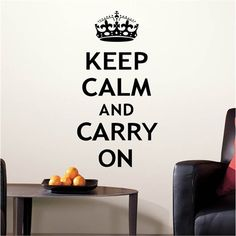Keep Calm and Carry On Peel & Stick Wall Decal