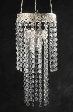 Look at this Crystal Chandelier Candleholder outdoor chandelier Hanging Candle Chandelier, Acrylic Chandelier, Outdoor Chandelier, Chandelier Ideas, Elegant Chandeliers, Save On Crafts, Little Girl Rooms, Lampshades, Decorative Items