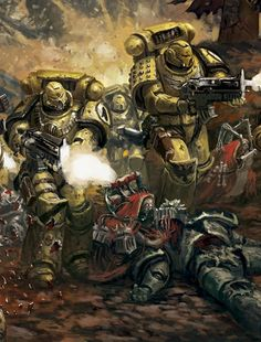 Space Marine - Warhammer 40k - Adeptus Astartes - Imperial Fists - Adeptus Mechanicus