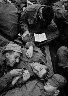 Troopship to Korea, 1952. By Harold Feinstein