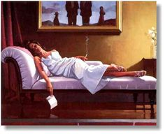 My favorite Vettriano painting called The Letter.